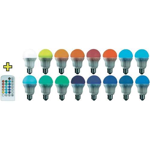 Basetech LED RGB mit IR-Fernbedienung E27, 3,7W, Globeform, Inhalt 1 Stk. für 14,99 inkl VSK  @ Ebay