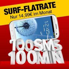 Vodafone Basic 100 für monatlich 14,99€ + 1 Euro für Samsung Galaxy S3 (Idealo: 352€) – 200MB Internet-Flat, 100 Freiminuten und -SMS