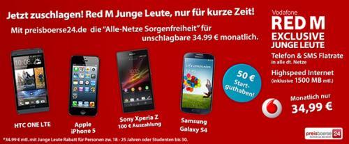 Red M Junge Leute für nur 34,99 € mtl. | Verschiedene Handys mit und ohne Auszahlung