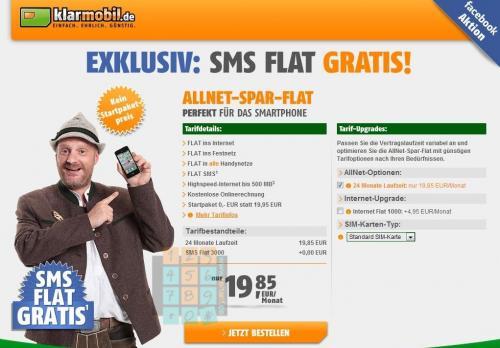 AllNet Flat o2: ab 19,85 und im d1 (!) ab 24,85 inkl. SMS!