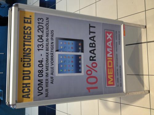 (Lokal Berlin) MediMax SBHF Neukölln 10 % auf alle iPads