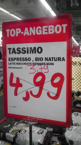 """Tassimo Latte Macchiato """"weniger süß"""" und Bio-Espresso [lokal] @ MM BO-Ruhrpark"""