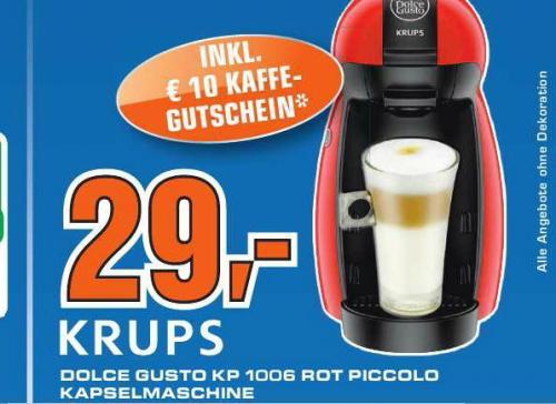 [ Saturn Braunschweig ]  Nescafe Dolce Gusto Maschine Krups KP1006 ink. BWT Wasserfilter  29€