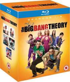 (UK) The Big Bang Theory - Complete Season 1-5 [10 x Blu-ray] für 40.98 € @  Zavvi