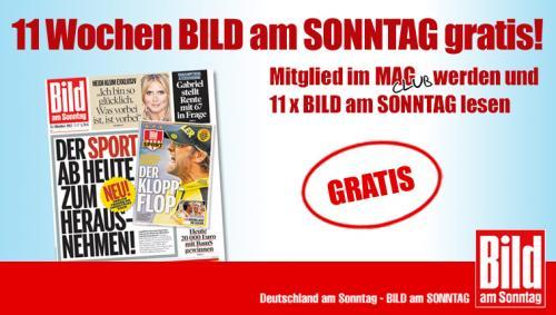 BILD am SONNTAG: 11 Sonntage gratis