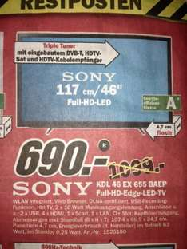[Lokal Stuhr] Sony Bravia KDL 46 EX 655 BAEP bei MM