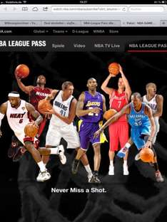 KOSTENLOSE TESTVERSION NBA LEAGUE PASS vom 20.4-22.4