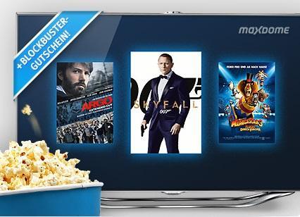 Maxdome Premium 1 Monat + 1 Blockbuster Gratis