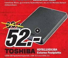[ MM Meerane ] Toshiba HDTB110EK3BA STOR.E Basics 1TB externe Festplatte (6,4 cm (2,5 Zoll) USB 3.0) schwarz