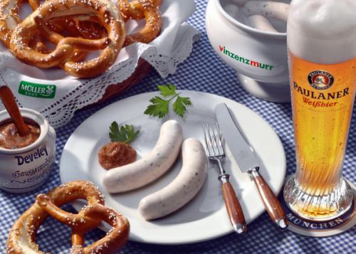 [München] Gratis Weißwurstfrühstück Park Café - Mo 15.4. ab 10 Uhr je 300x Freibier, Weißwürste und Brezn