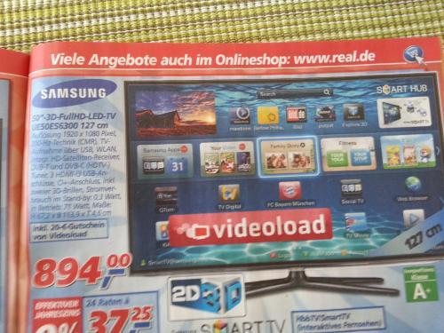 Samsung UE50ES6300 bei Real für 894 Euro