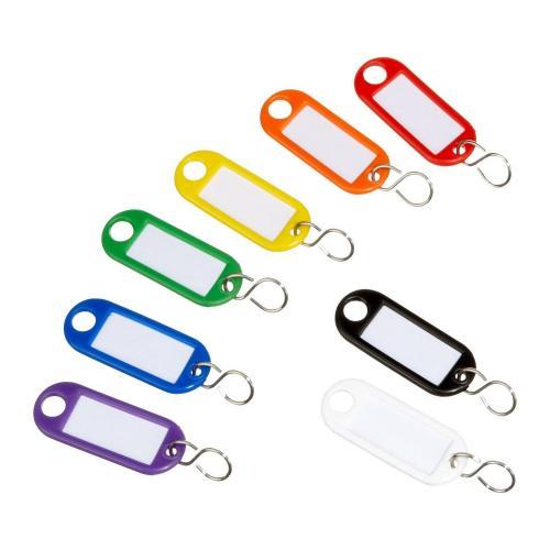 Schlüsselanhänger - 1fach beschriftfähig - 100er Pack - inkl. Versand - inkl. ichfindwasbilligeres-Garantie @amamapla aus DE für 7,18€ brutto