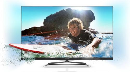 Philips 42PFL6907K/12 107 cm für 666 € - Passiver 42 Zoll 3D FullHD-LED-Backlight-Fernseher mit Ambilight Spectra 2, Triple-Tuner, EEK A+, 600Hz PMR, Smart TV Premium, DLNA, WiFi und USB-Recorder
