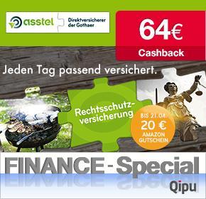 64€ Cashback + 20€ Amazon Gutschein für eine Asstel Privat- und Berufsrechtsschutzversicherung