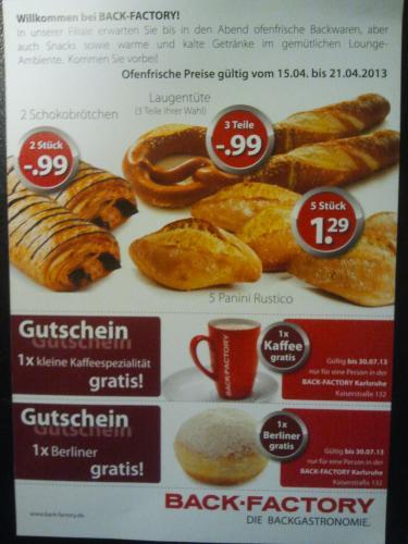 [lokal Karlsruhe] Gratis Berliner & Kaffee - Neueröffnung Backfactory Kaiserstr.