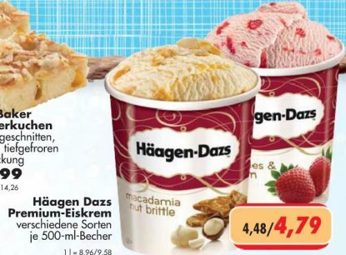 Häagen Dazs Premium-Eiskrem für 4,79 € bei CITTI