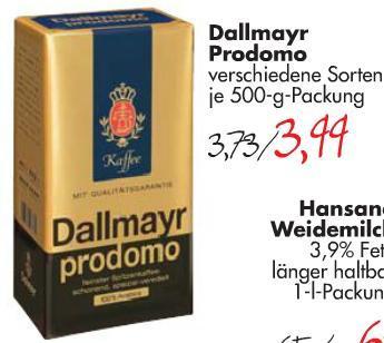 Dallmayr Prodomo für 3,99 € bei CITTI