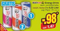 BLACKCAT Energy Drink, 33 Cent pro Dose