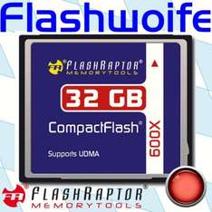 Flashraptor CompactFlash 32 GB 600x