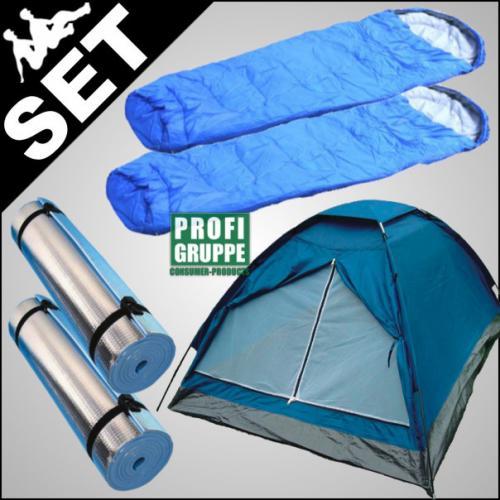 Festival Zelt für 2 Personen, inkl. 2 Schlafsäcken und ISO-Matten