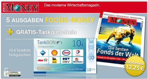 [Qipu] 7x Focus Money für 12,25€ + 10€ Tankgutschein + 5€ Cashback