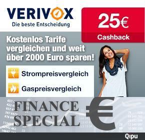 [Qipu] 25€ Cashback für Strom- oder Gasanbieterwechsel bei Verivox