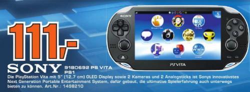 [Saturn Wiesbaden]  Sony PlayStation Vita Konsole  111€