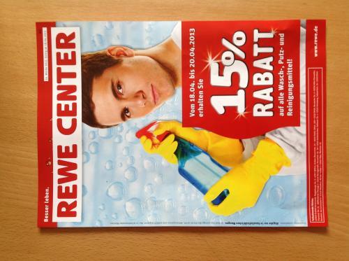 [Lokal] REWE NUTELLA 450g für 1,29€ und 15% auf Wasch-, Putz- und Reinigungsmittel