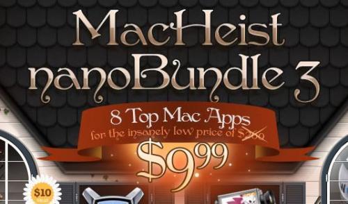 MacHeist NanoBundle 3 mit mind. 8 Mac-Programmen