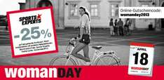 25% auf ALLES bei Sports Experts (Woman Day)