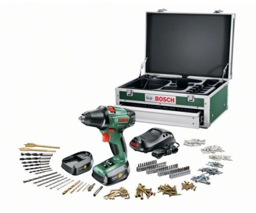 AMAZON - Bosch PSR 14.4 Li - 2 Bohrschrauber, 2 Akkus, 241-tlg Zubehör-Set und Toolbox
