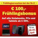 [MM AT] 100€ Rabatt auf alle Notebooks, PCs & Tablets ab 599€ (z.B. iPad 16gb+Cellular für 499€)