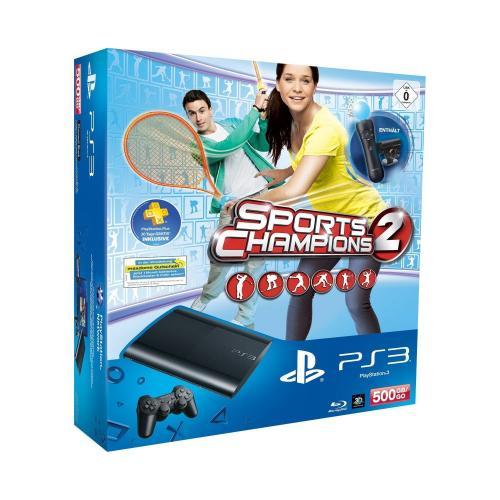 Amazon Student Geburtstag: PlayStation 3 Konsole mit DualShock 3 Wireless Controller 500 GB Super Slim + Move + Sport Champions 2 für 249,00 € (+ 20€ Rabatt auf ausgewählte Spiele)
