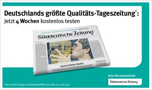 Süddeutsche Zeitung 4 Wochen kostenlos beziehen.