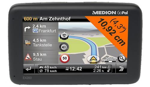 Navigationssystem MEDION® GoPal® E4260 EU  für nur 56,95€ inkl. Versand statt 96,95€ mit Gutschein