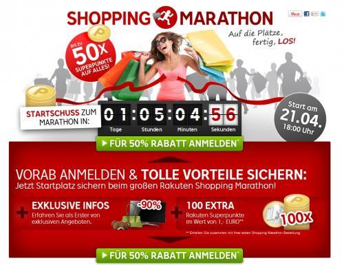 Rakuten.de - Shopping Marathon - [Sonnatg ab 18Uhr]