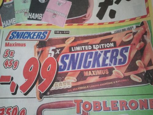 Snickers Maximus 5er Pack für 0,99€ bei Krümet(lokal 12 mal in Norddeutschland)