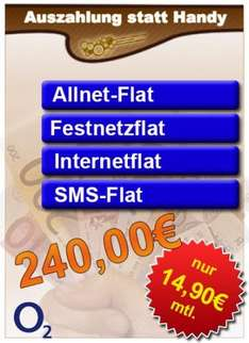 Allnetflat, Internet- und SMS-Flat für 14,90€ im Monat + AG