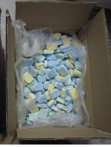 """Spülmaschinentabs """"Ausschussware"""", Karton mit ca. 20kg incl. PORTO Ausschusstabs für Sparfüchse"""