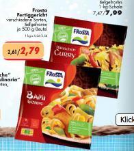Frosta Fertiggerichte 500 g für 2,79 €