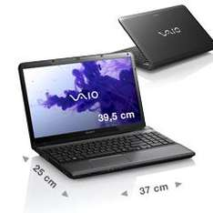 Sony Vaio E15 (i3-3110M, Win8, 4 GB RAM, HD 7650M ) im Sony Outlet (refurbished) für 359,09 €