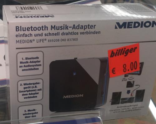 [lokal ALDI Paderborn] Bluetooth Audio Empfänger Medion MD 83780
