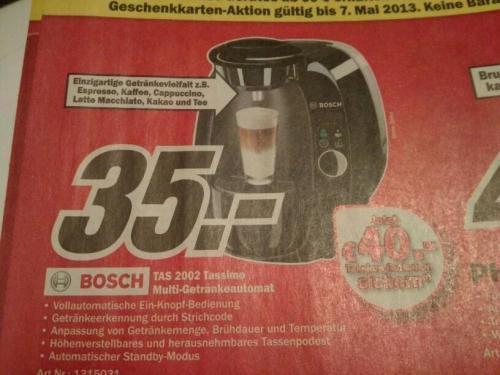 Tassimo TAS 2002 (lokal?) Media Markt