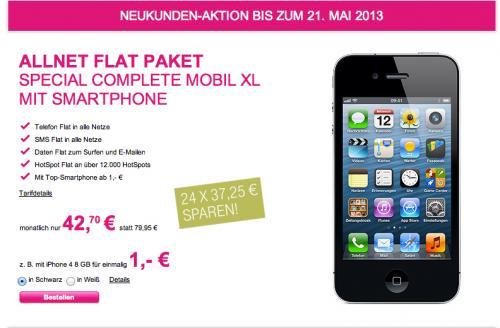 Allnet Flat bei der Telekom - Ohne Smartphone nur 33,20€ mtl!