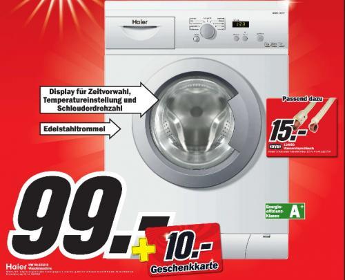 [MM Itzehoe  ]  Waschmaschine Haier HW 50-1010D  für  99€ + 10€ Geschenkkarte