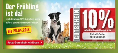 [Online] Fressnapf 10% auf alles im Onlineshop fressnapf.de, MBW 65€