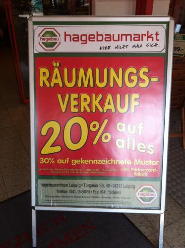 20% auf Alles Hagebau [Lokal Leipzig]