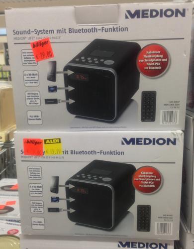 [Lokal ALDI Nord Gladbeck] Medion Life E66219 (MD 84027) Soundsystem mit Bluetooth-Schnittstelle