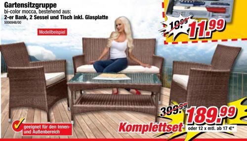 Gartensitzgruppe Rattanimitat 189,99€ @ Poco Domäne (Lokal Dresden?)