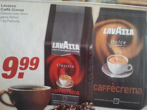 Lavazza Caffè Crema Classico und  Dolce 1Kg  bei Edeka für je 9,99€